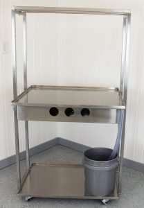 3 Foot Cheese Table with Drain Pail